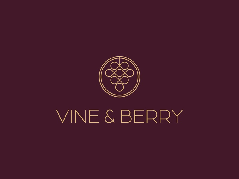Logo Wine Shop logo design red wine symetry illustration geometric design branding design logo winery wine