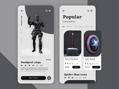 Marvel's Store deadpool store marvel design uiux ui