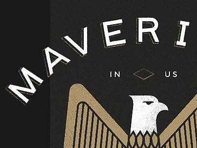 Mavericks Logo Option illustration mavericks eagle logo identity concept branding