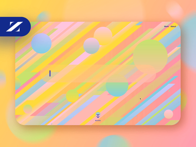 Zonwrk portfolio :: Homepage animation webflow web colorful web design design user interface ui animation ui portfolio