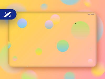 Zonwrk portfolio :: Homepage website webflow web design web user interface ui animation portfolio colorful animation ui