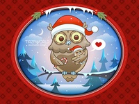 Christmas card owl