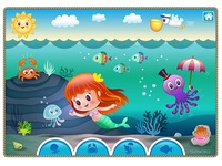 Cute mermaid game concept