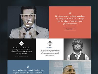 Editorial Grid website photography layout grid editorial actor brandon grotesque utopia