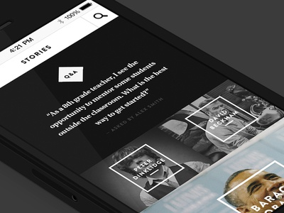 Editorial Grid - Responsive Mobile View