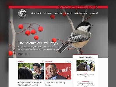 Cornell.edu Redesign cornell .edu university education redesign web design responsive rwd layout freight sans freight serif