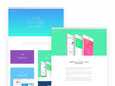 Free Association Site Refresh web design geometric grid minimal gradient layout web free association