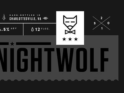 Christmas Beer Label porter nightwolf brand dark tungsten packaging label stamp christmas holiday beer