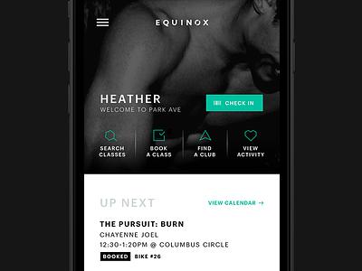 Equinox App Redesign minimal geometric app fitness black and white gym equinox ios schedule gotham ux ui
