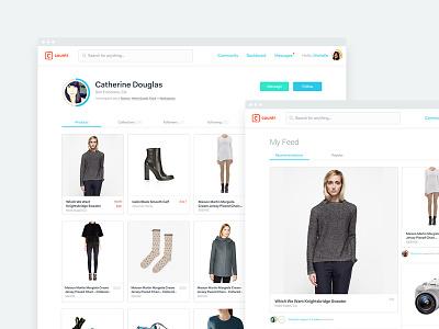 Countr - Profile & Feed ui ux fashion image grid progress avatar profile grid homepage feed