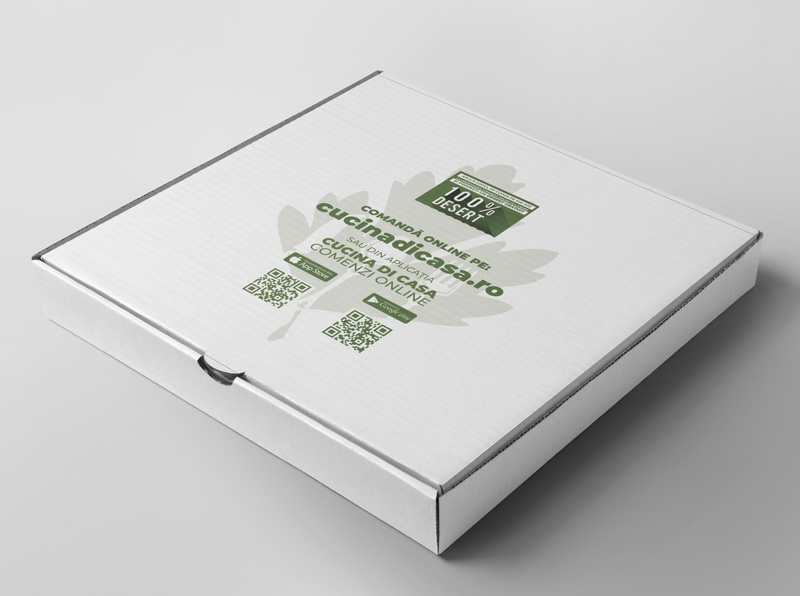 Pizza Box box design packagedesign flat clean box pizza packaging design packaging minimal branding vector icon design