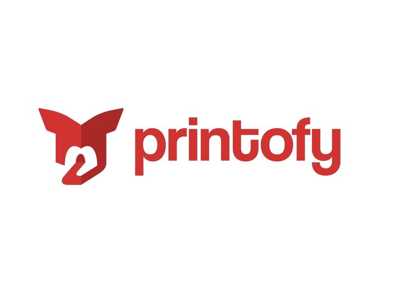 Printofy Logo Design logo design illustration lettering branding minimal logo flat vector icon design