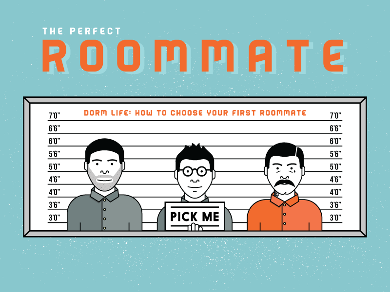 how to find the perfect roommate Finding the perfect roommate is a two-way street, and if you possess some traits that qualify as undesired traits for someone else, you'll want to call it out right away so you don't waste one another's time.