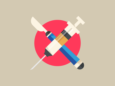 medical supplies icons icon illustration infographic elements medical supplies scalpel