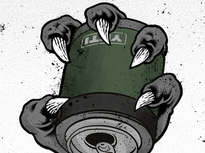 PITCHGRIM x DONOMATIK workfromhome halftone texture draw wild beer yeti digitalart art procreate illustration