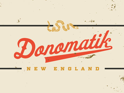 Donomatik script logo 'C.R.E.A.M' donomatik new england boston vector script design typography type logotype logo