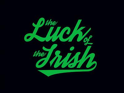 Luck of the Irish lettering irish green black script vector typography logotype type