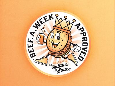King Beef illustrator cartoon illustration cartoon bbq foodie food badge design badges character design character new england boston illustration type design vector