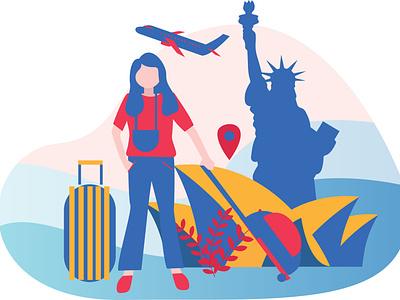 vacation illustrator application app web illustration design art design flat artwork vector