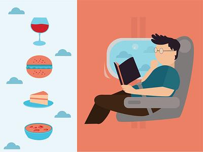 Menu on board graphic design flat illustration illustrator design graphic app web illustration flat artwork traveling vector