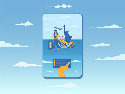 Travel plan aplication tourism trip travel ui socialmedia flat illustration design graphic illustrator flat design artwork illustration vector