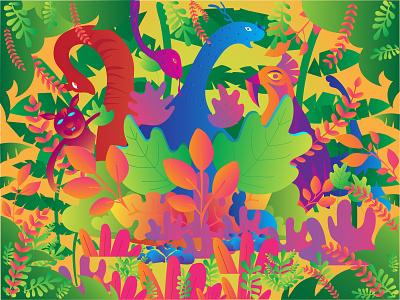 Forest Game app web design art illustrator design graphic art design artwork vector illustration
