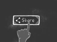 Hand klick Share Button