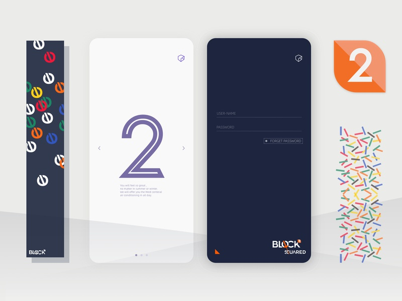 Block-squared UI&Animation Design icon ui ux  ui vector branding brand design app brand interaction design interaction animation uidesign uiux