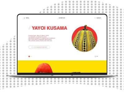 KUSAMA Website design artist art website ui web
