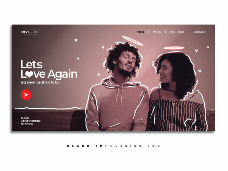 UI design concept for a Counseling site. uxdesign uidesign minimalist clean graphicdesign graphics hoodie black angel animation scribble woman man ux ui design webdesign white red love