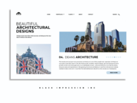 UI design concept for an architectural brand