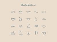 Icons for RecetasGratis.net