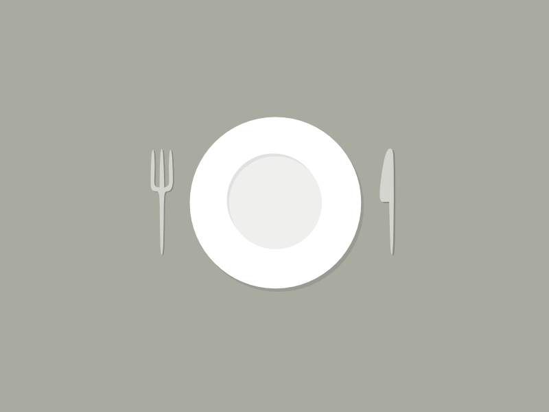 Empty dish with fork and knife spaghetti plate plant invitation color food dish flattening flatten empty fork knife
