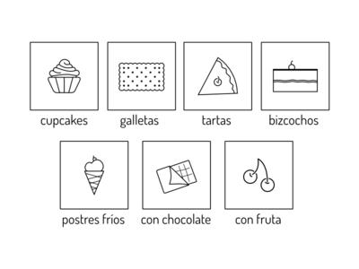 Iconos para Recetas de Postres