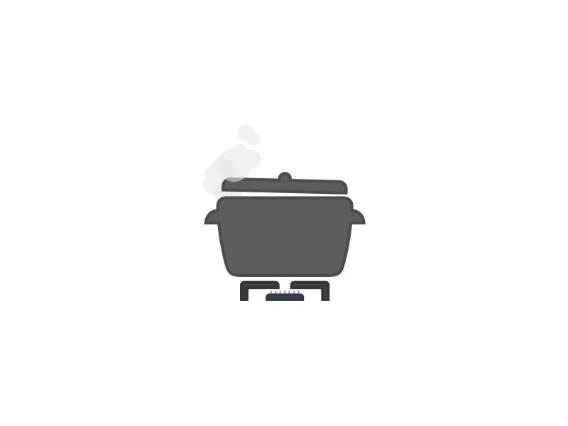 Stove illustration fire steam cooking recipe icon illustration stove