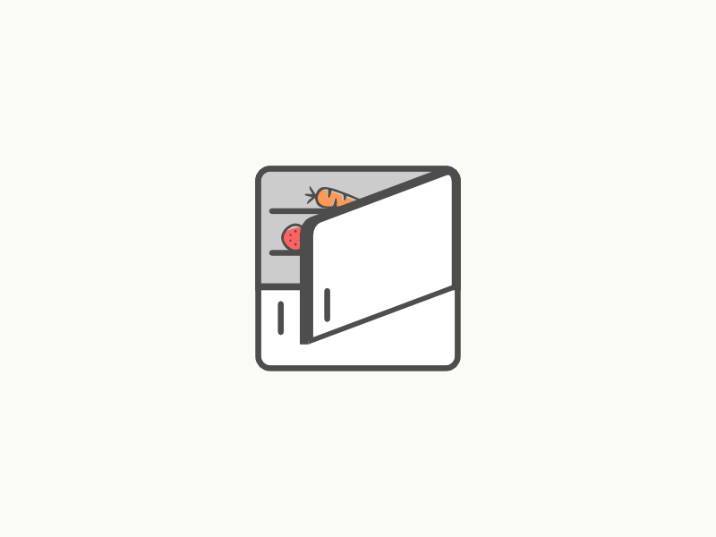¿Qué tiene en la nevera? illustration app icon fridge