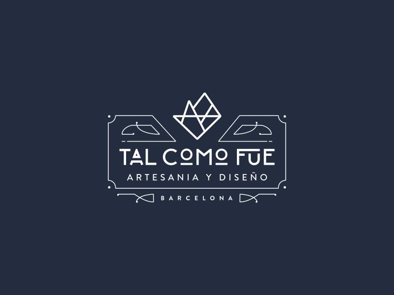 Art Déco Logo for TAL COMO FUE value proposition brand redisign art déco logo