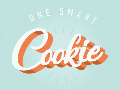 One Smart Cookie design lettering illustration daily type letter hand letting saying words mint cookie type typography