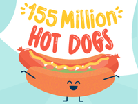 Hot Dog! That's a lot of wieners!