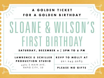 Willy Wonka Birthday Invite