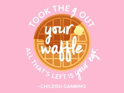 Childish Gambino's Waffle