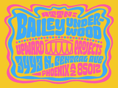 Psychedelic Mailer usps handlettering lettering typography mailer mail 70s fillmore