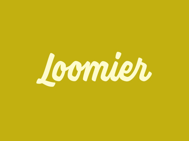 Loomier Logotype handlettering lettering logo logotype brush script type