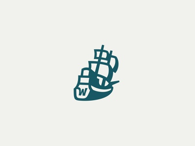 Wayward Ship Identity ship vector illustration vector illustration wayward logo identity