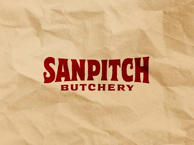 Sanpitch Butchery lettering custom lettering abattoir butchery logo design logo logotype
