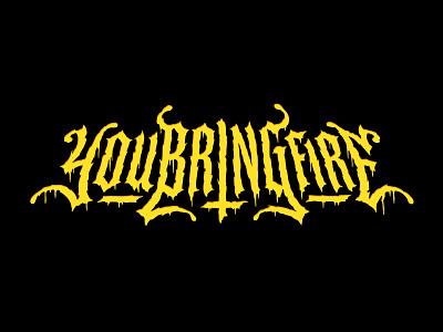 youbringfire — Heavy Metal logo logotype metal band metal logo