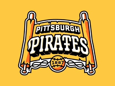 PIRATES lettering custom type baseball sports branding illustration pirates sports logo sports