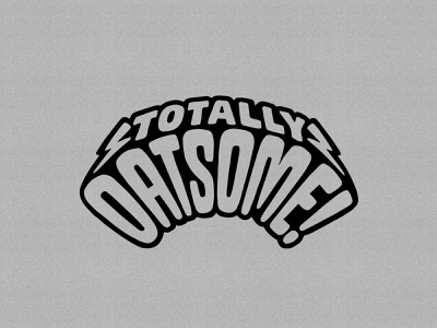 Oatly — Totally Oatsome! illustration upcycling oatly handlettering lettering typography type