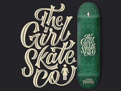The Girl Skate Co. type typography design vector girl skateboards deck skateboard hand lettering lettering