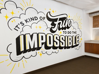 The Shine Project Mural hand-painted mural illustration hand-lettering lettering typography type